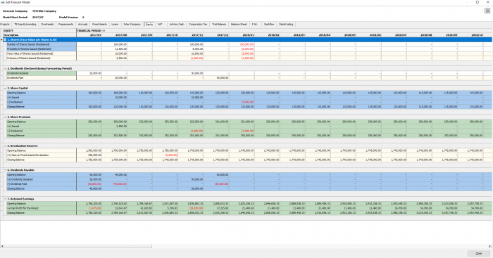 Cashflow Forecasting Screenshot
